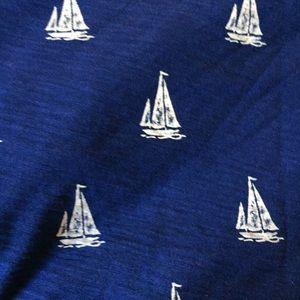 J crew blue/white sailboat T-shirt Sz XXS
